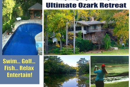 Golf Course Riverfront Retreat with Private Pool! - Cherokee Village
