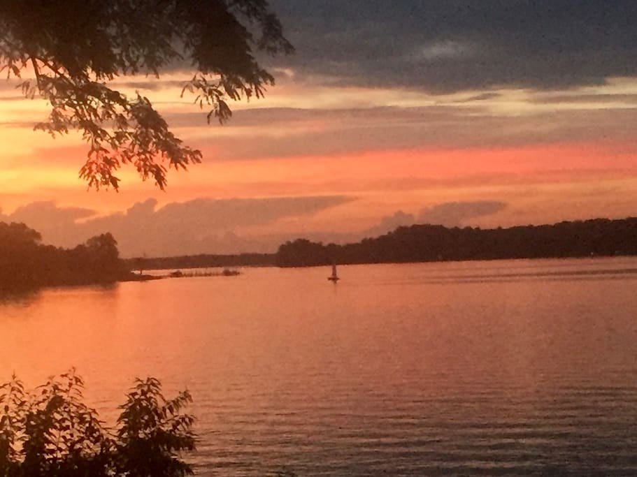 """Our view of the Severn River... known locally and on the Chesapeake Bay as """"the Queen"""" for it's unsurpassed beauty"""