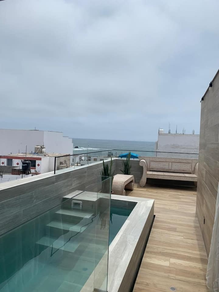 Exclusivo duplex, vista al mar - punta hermosa