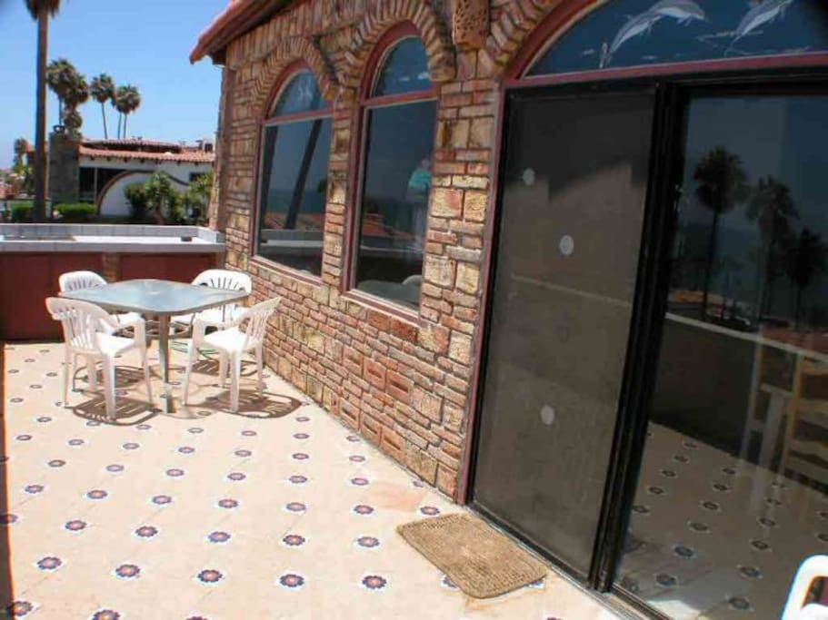 Large Patio with Charcoal BBQ