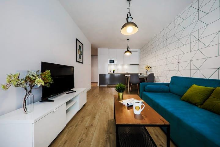 Apartament Executive z klimatyzacją i balkonem