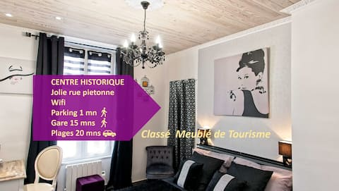 Studio AUDREY bel appartement HYPERCENTRE Quimper