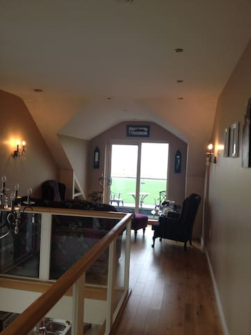 Upstairs lounge overlooking Galway Bay