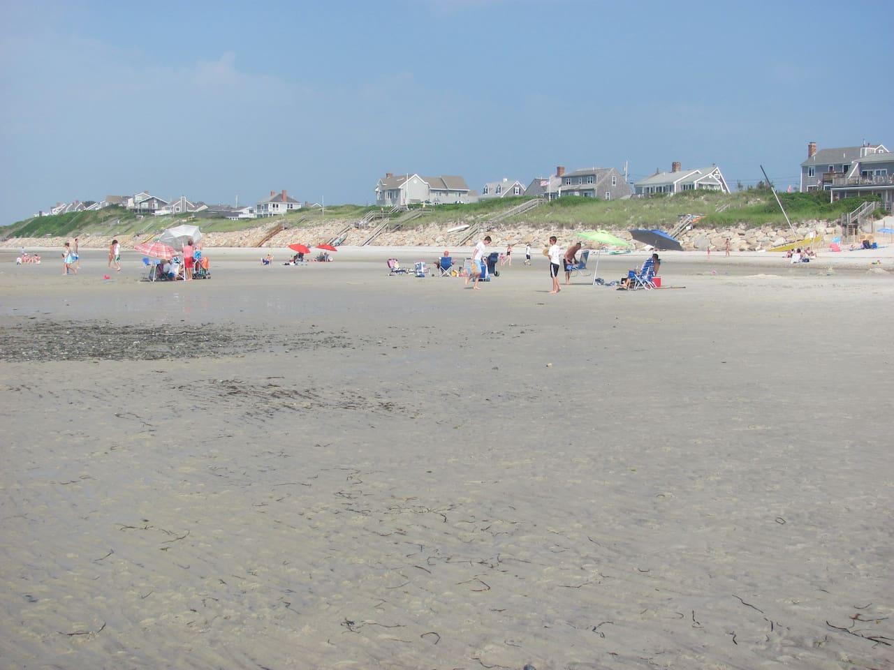 Beautiful Mayflower Beach at low tide