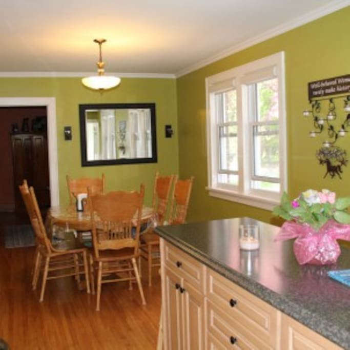 Warm, bright, kitchen with all the conveniences of home!