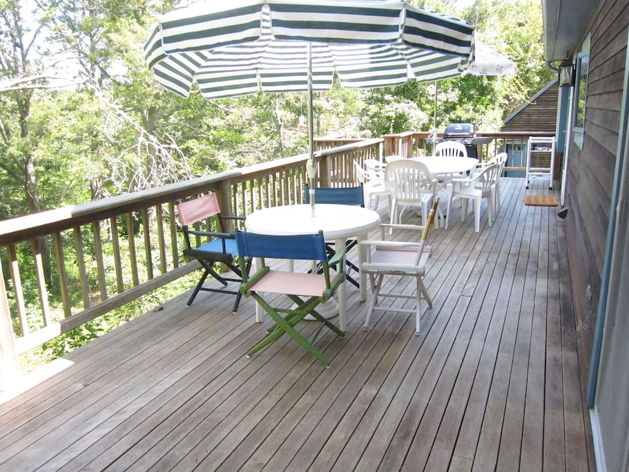 Spacious deck looks out onto wild nature