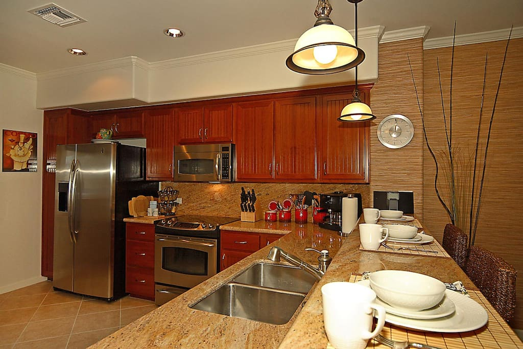 This is our gourmet kitchen with breakfast bar