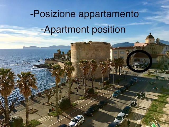 Appartamento in Piazza Sulis con terrazzo