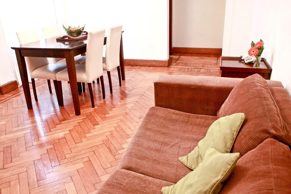 Recoleta. 5 people 2 Bedrooms Clean