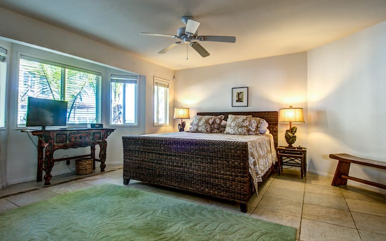 Luxurious King bed in the master bedroom