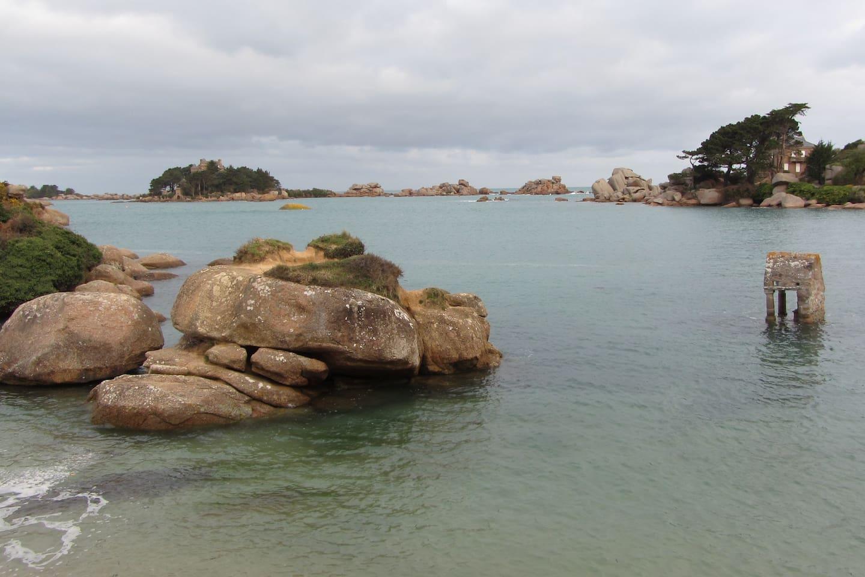 Saint-guirec à  marée haute