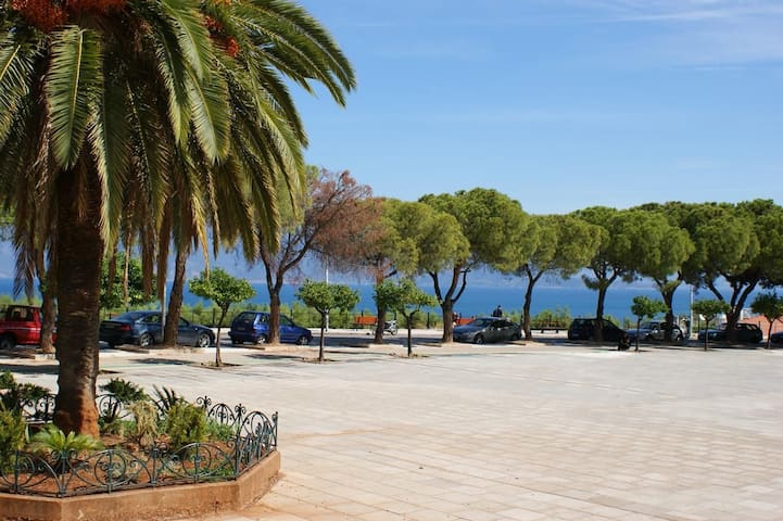 Aigio is the nearest city, just 5km away!