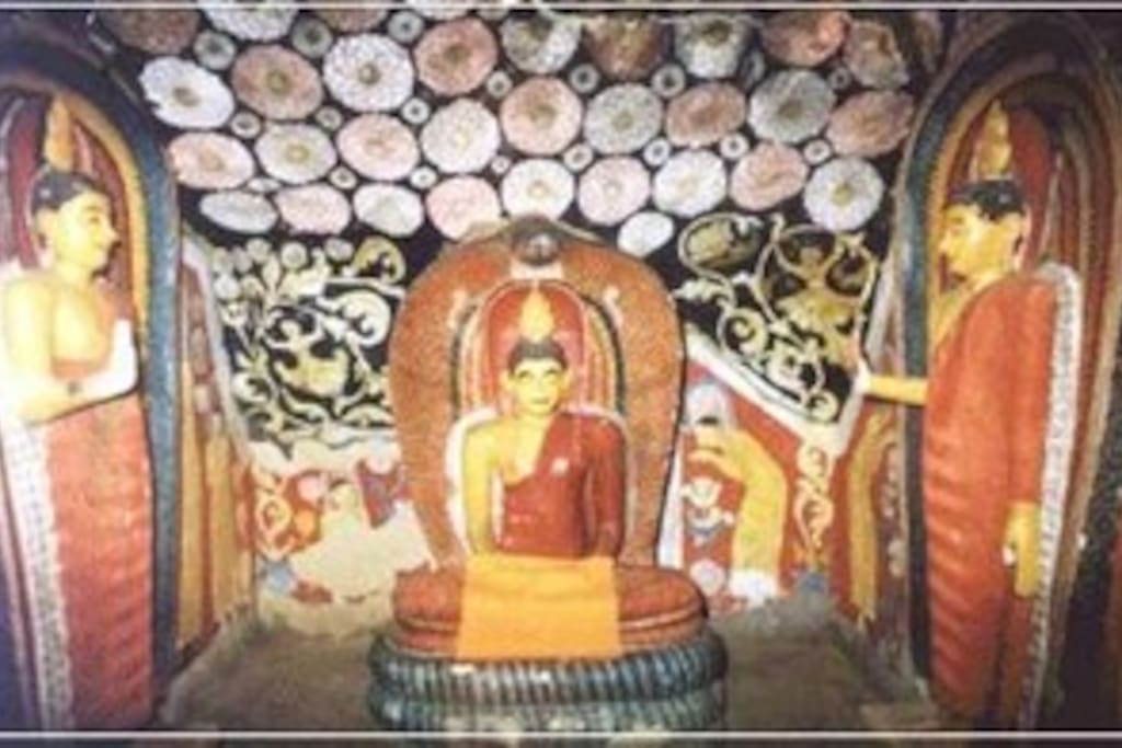 Pahiyangala buddhist monastry artwork.Pahiyangala is a residential area for people more than 5000 years ago.