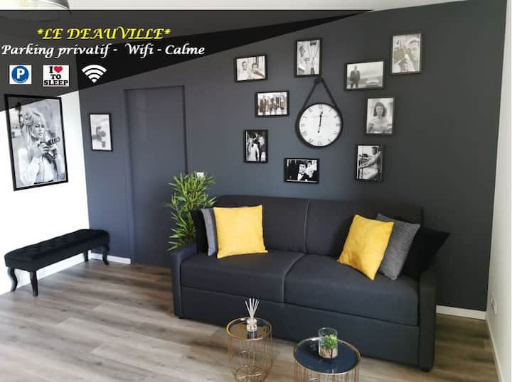 LE DEAUVILLE *T2 (40m²) *WIFI*PARKING PRIVE*CALME