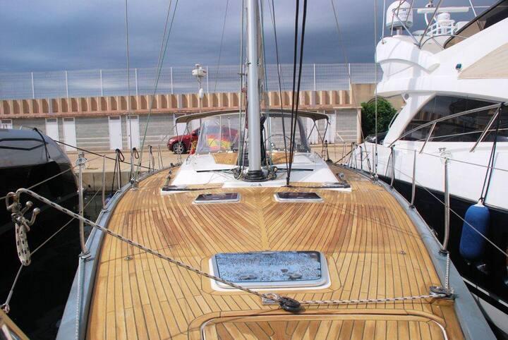 Sailing boat at Formentera