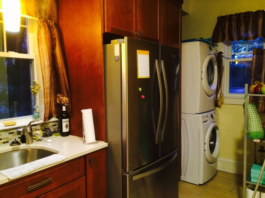Washing machine and dryer inside the apartment