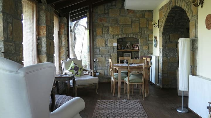 Private Rooms in Stone Village House by the Forest