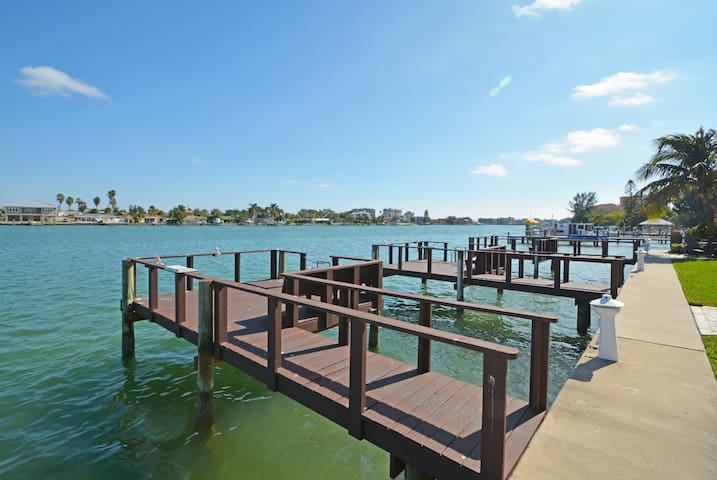 Looking South East on Boca Ciega Bay. 3 fishing docks