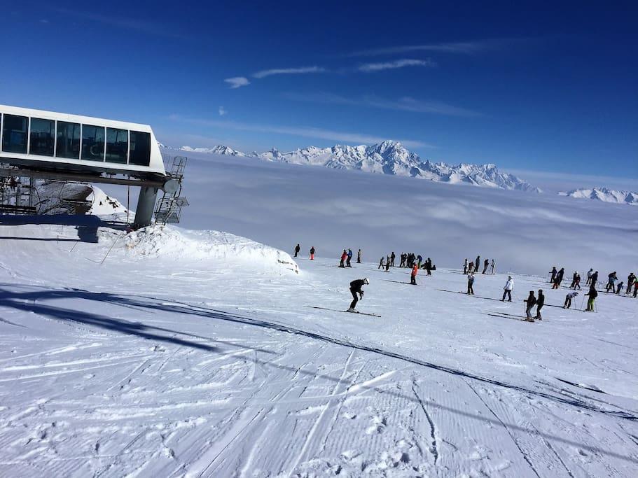 Le Mont Blanc vu de la Roche de Mio