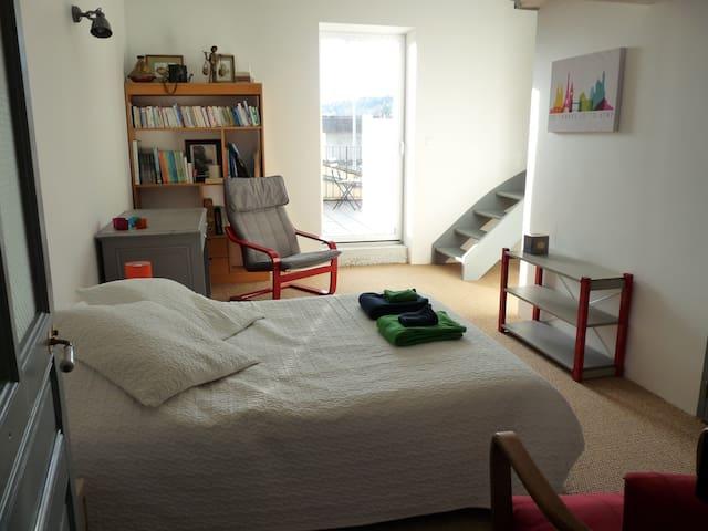 1 grande chambre + 1 chambre en mezzanine - Miribel - House