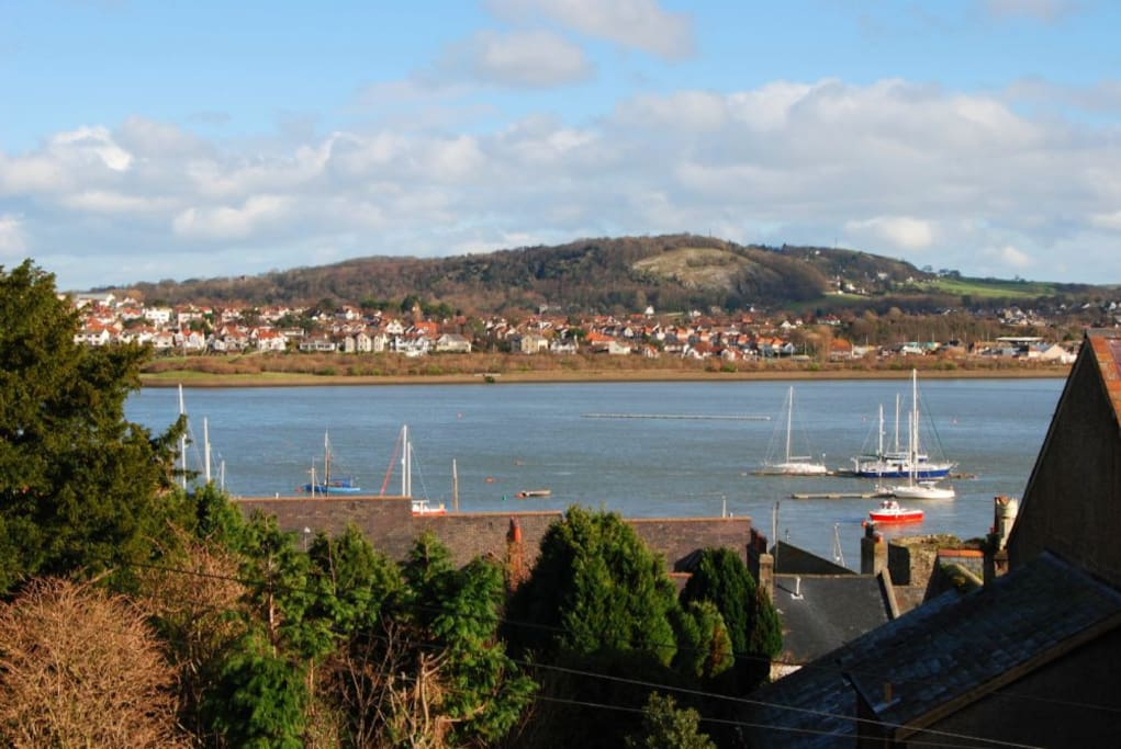 The Views of Conwy Estuary from Sea Haven Cottage, Conwy