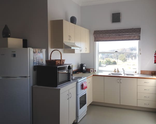 Fully equipped kitchen.  Continental breakfast supplies, fresh fruit, juice, choice of teas and coffee machine.