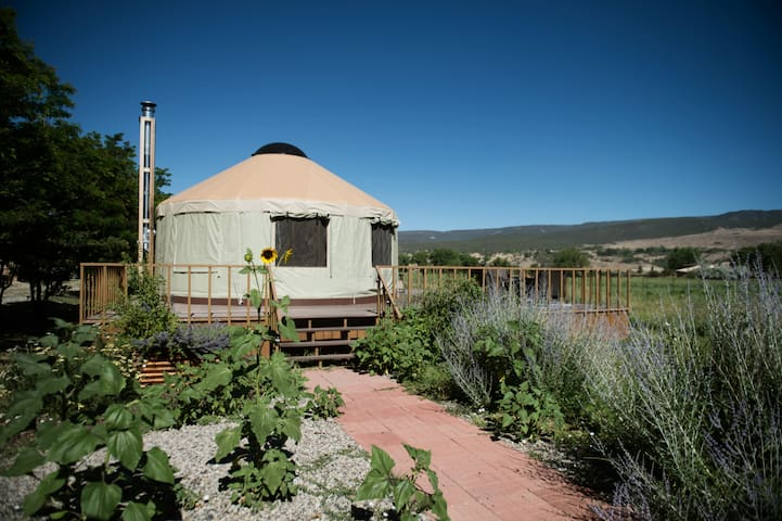 Agape Farm and Retreat Colorado Farm stay, bed and breakfast, vineyard, romantic getaway and event venue - The Yurt #1