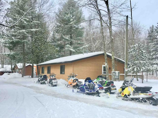 Snowmobile to the door-Parking & trail access!
