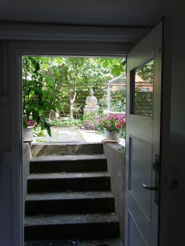 View from breakfast table . -  Separate entrance through garden.