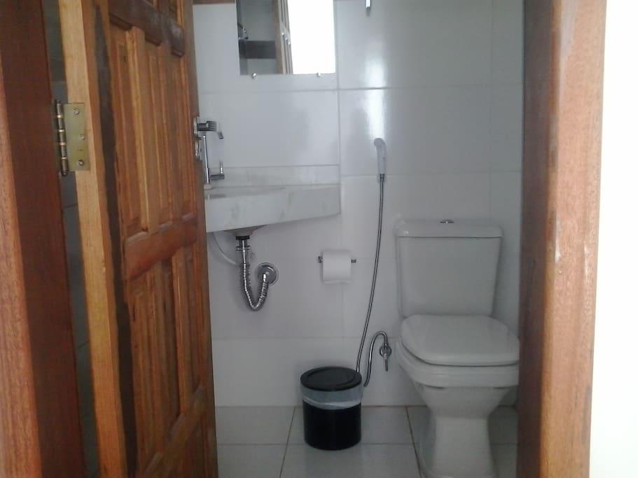 banheiro moderno, ducha higiênica