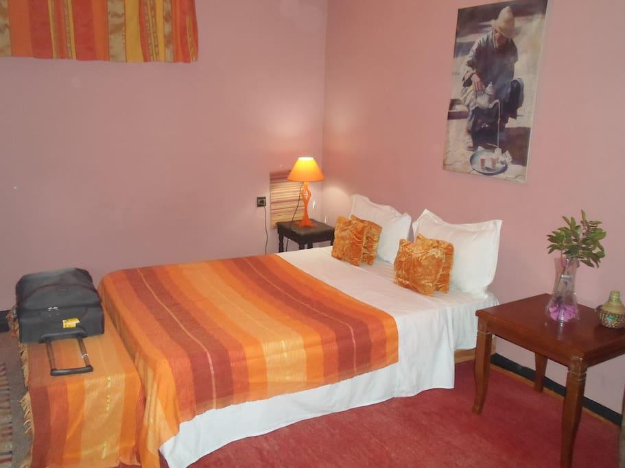 Centre medina room chambres d 39 h tes louer marrakech for Chambre d hotes marrakech