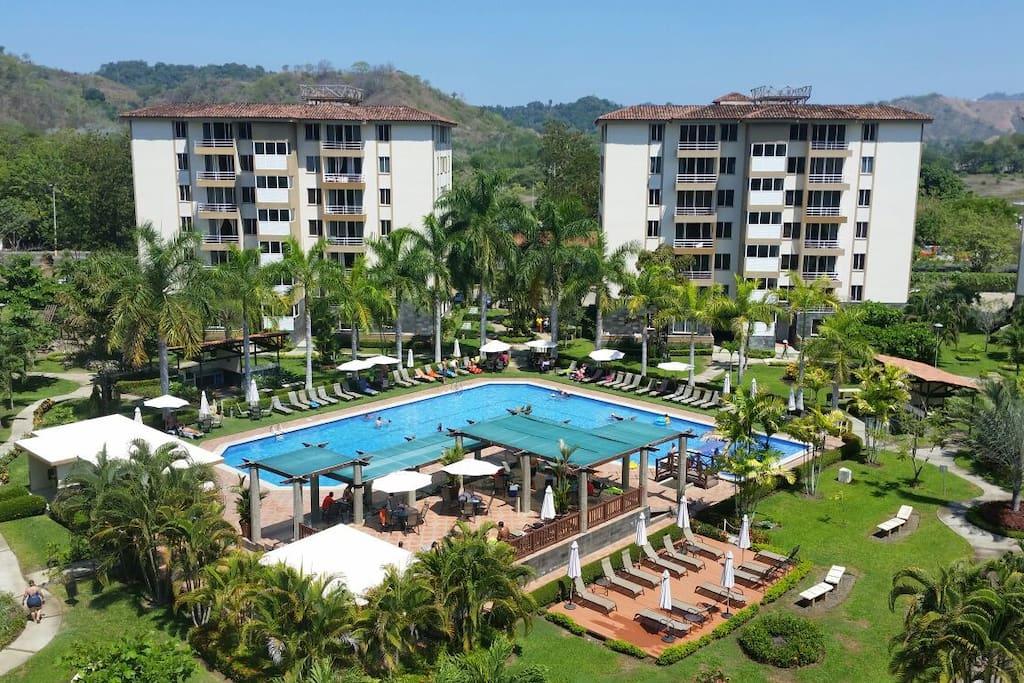 The unit is located in Costa Linda Condominiums