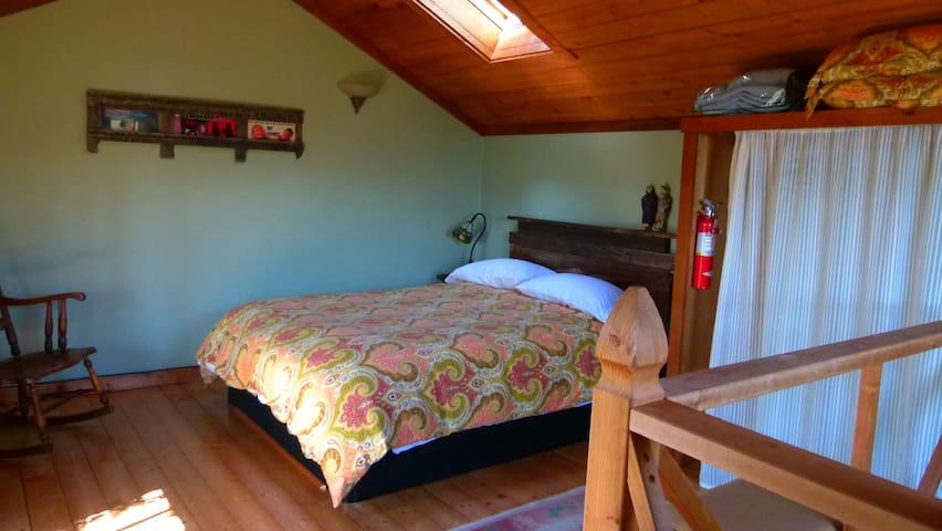New, cozy queen bed in the loft