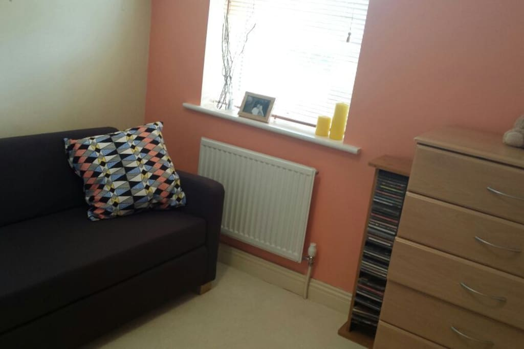 Single room with double sofa bed