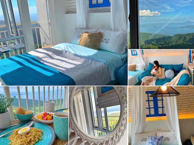 Taal View Santorini Suite 23rd Floor + Netflix