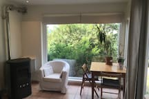 Appartement avec jardin,vue sur chênes centenaires