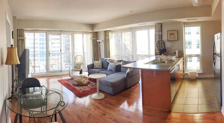 Furnished Downtn Ottawa Condo; 2suites; walksore99