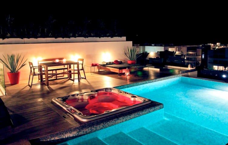 Modern Condo w Roof Top Pool - 5ppl - Playa del Carmen - Appartement