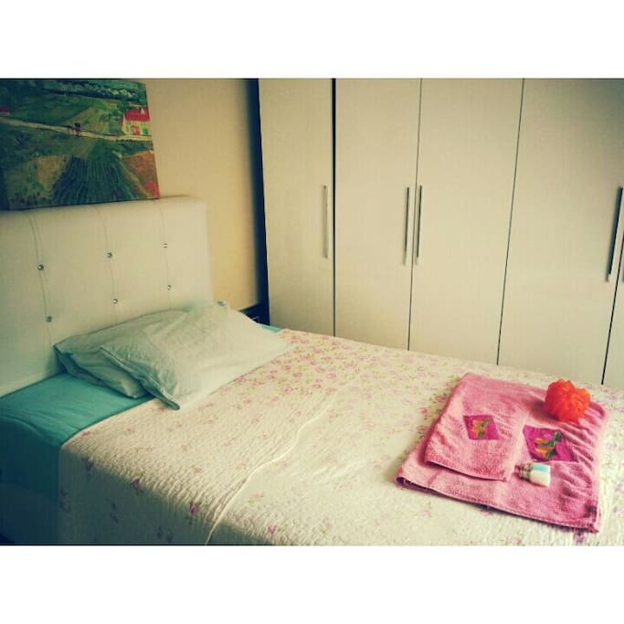 Sweet bed is available for 2 people :)