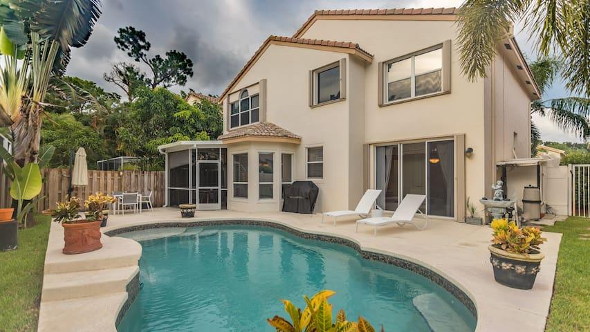 Spacious home with heated pool