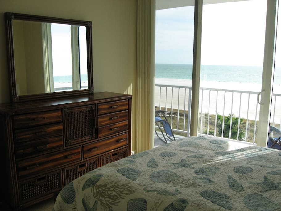 Guest Bedroom with view of Gulf
