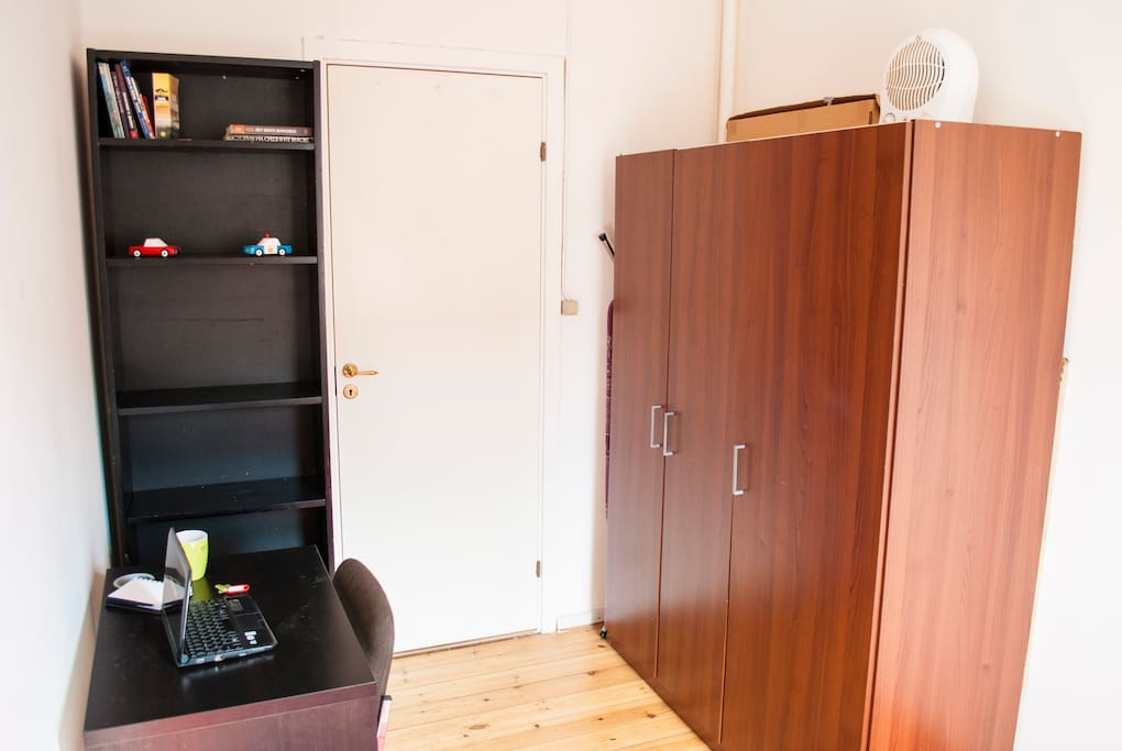 Wardrobe in the room for storing your clothes.