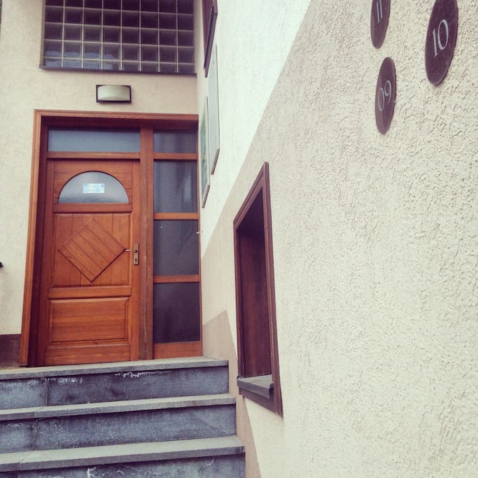 The house entrance door