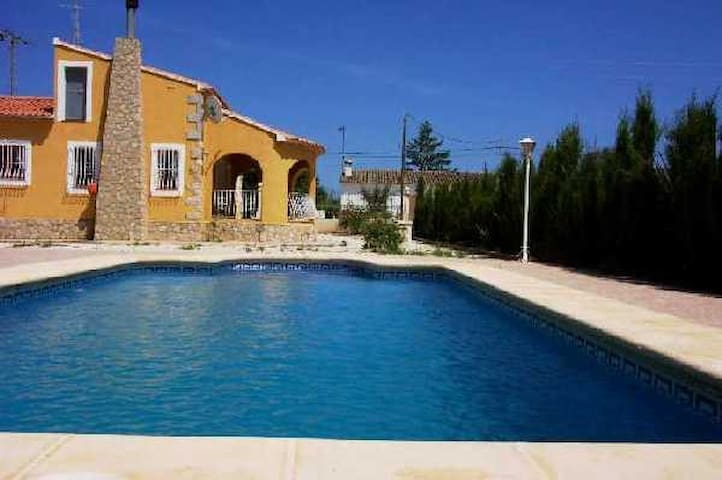 Private pool. 3 Bed. Wifi, A/C, BBQ - Jalón - Casa de camp