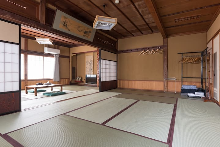 Traditional Japanese Ryokan room for 10 guests