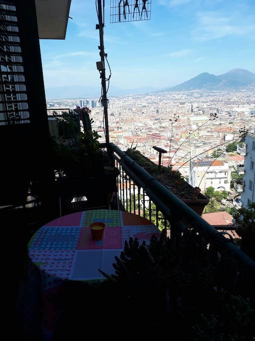 the viene fro balcony
