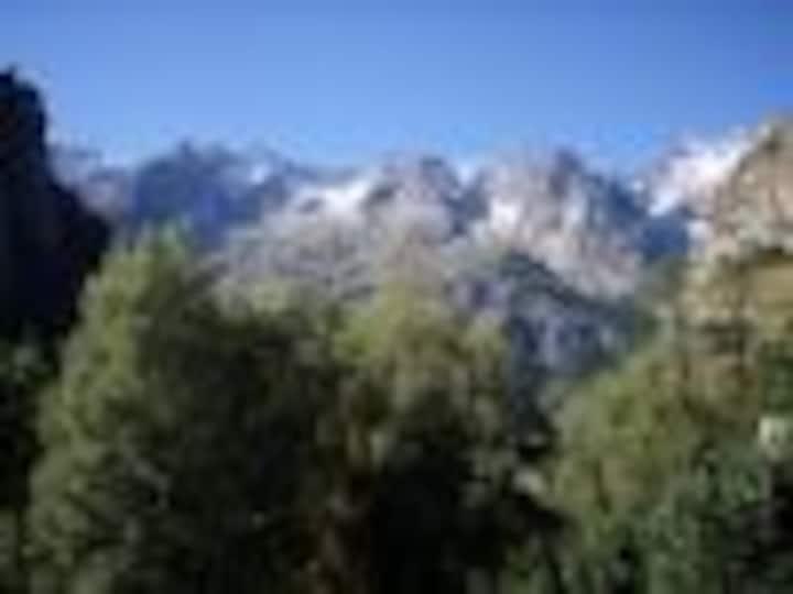 vista  catena del monte bianco