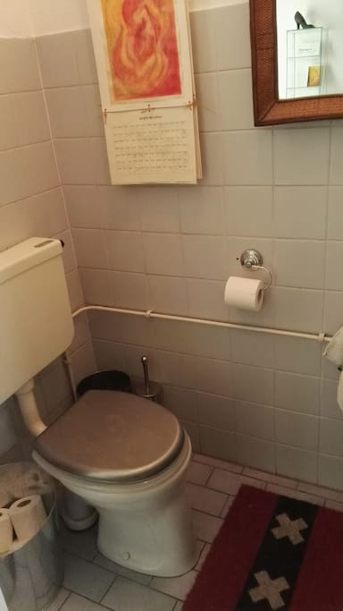 1st toilet downstairs