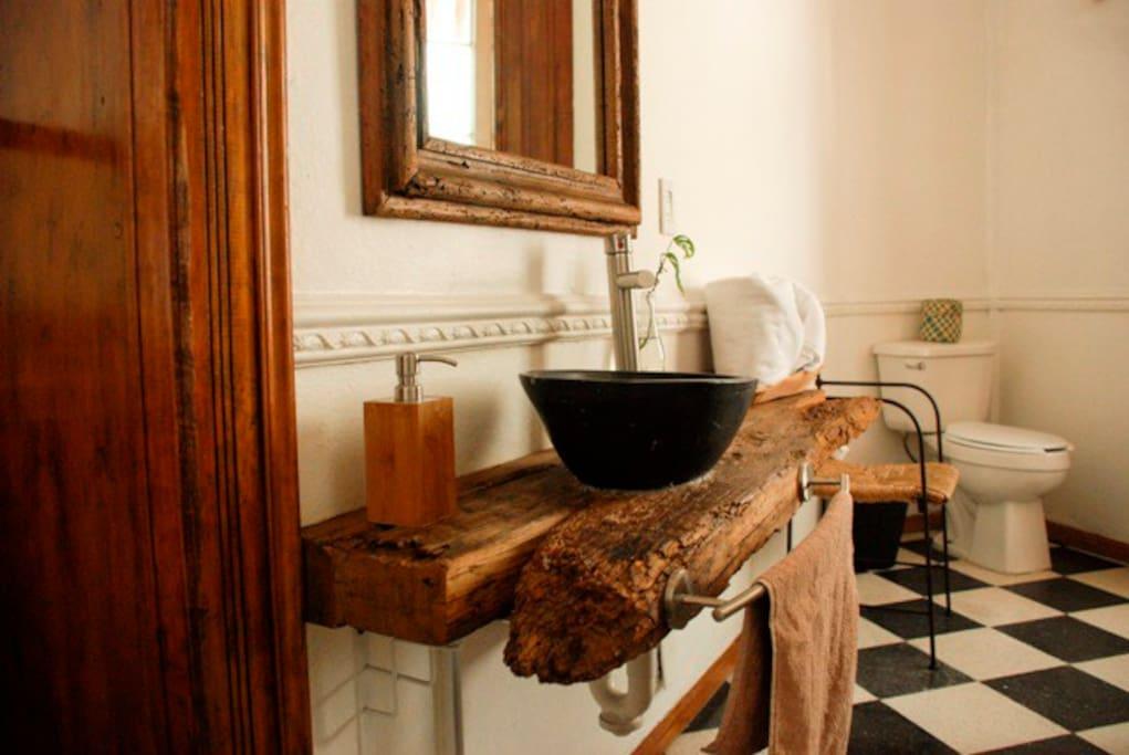 El baño de la suite Chiapas