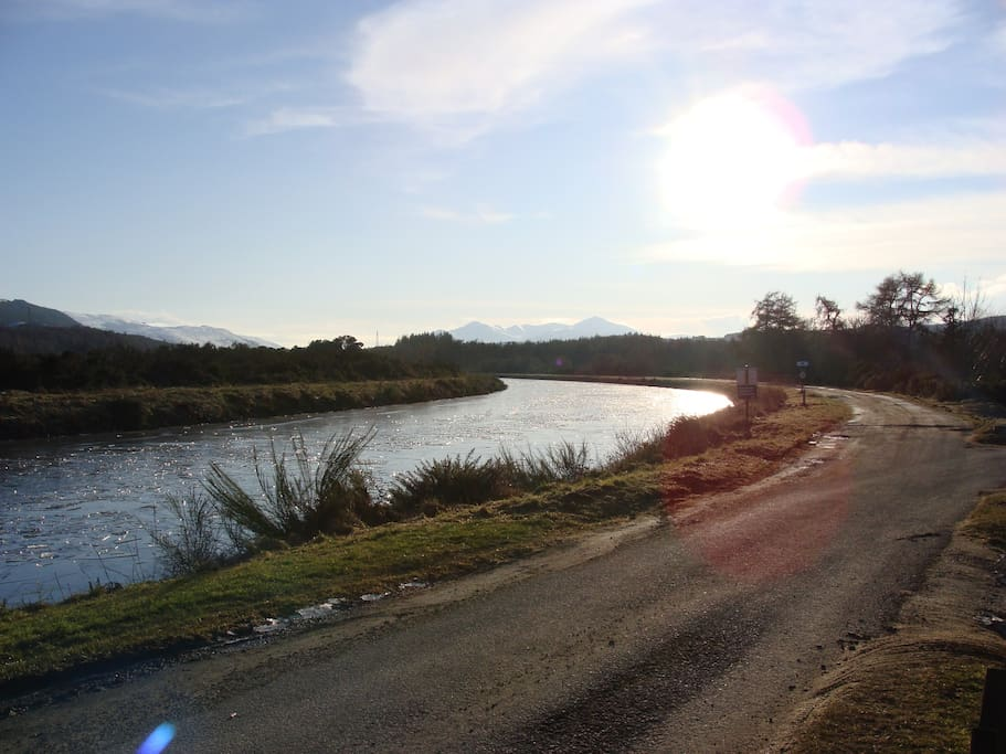 Looking down the Caledonian Canal